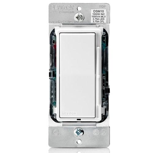 Wattstopper Universal Dimmer: Leviton DSM10-1LZ Decora Rocker Slide Universal Dimmer